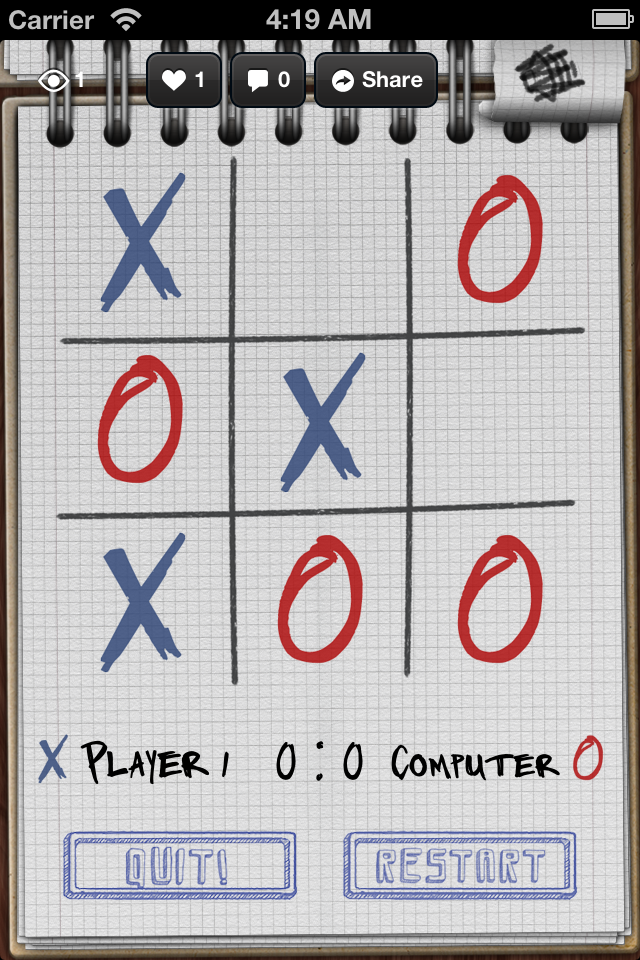 Screenshot Cool Tic Tac Toe
